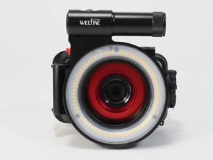 WEFFINE WF リングライト1000+PT-056 装着例 (オリンパス純正PT-056+M52-67ステップアップリング)