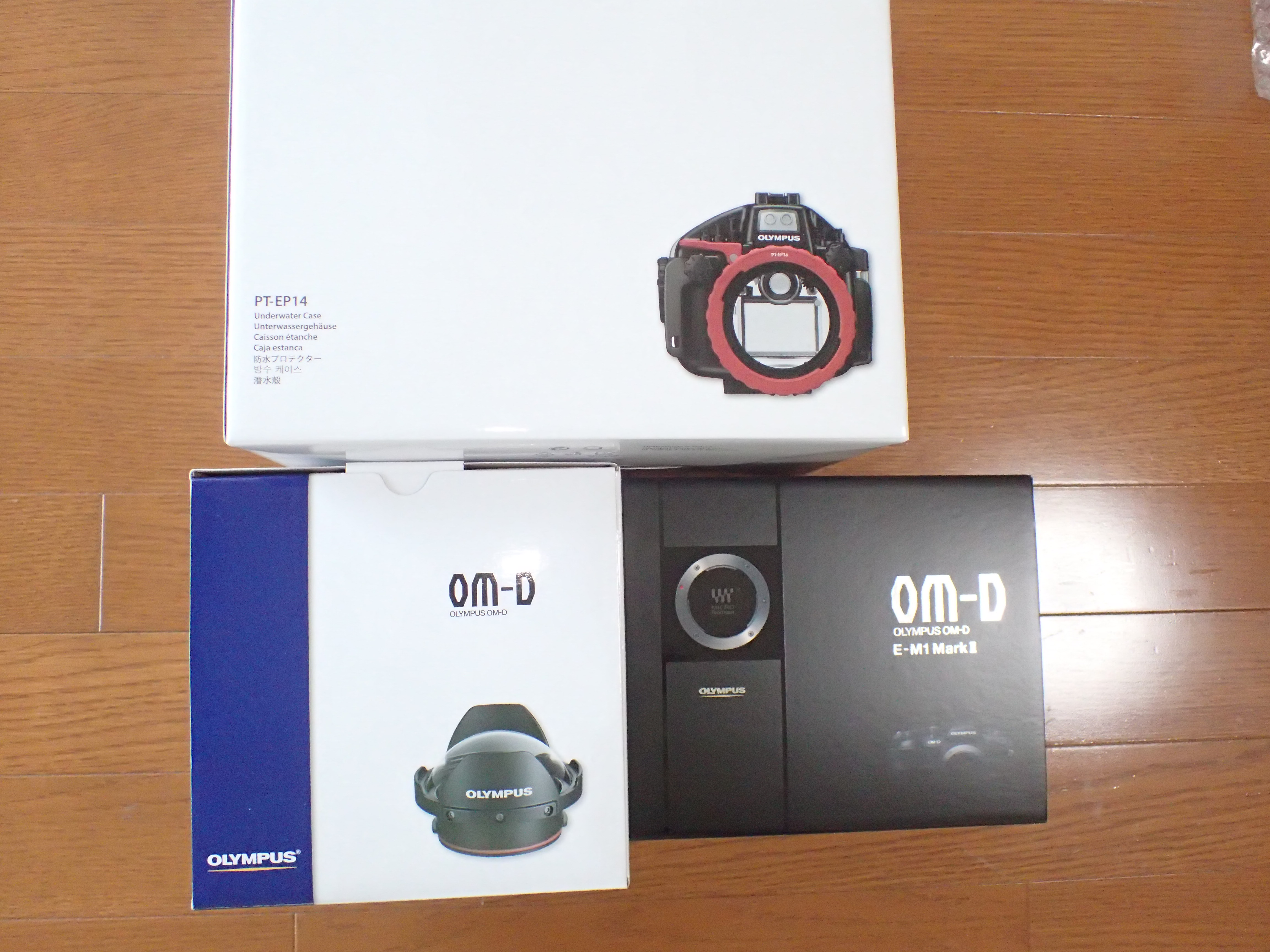 OLYMPUS OM-D E-M1MarkⅡ、防水プロテクター PT-EP14 店頭展示器材入庫