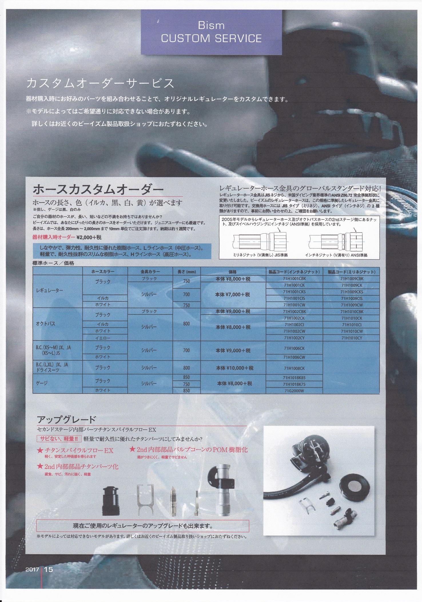 Bism レギュレーター カスタムオーダー(2ndステージ 内部パーツ チタン化 / 外部パーツ デザインやカラー変更)