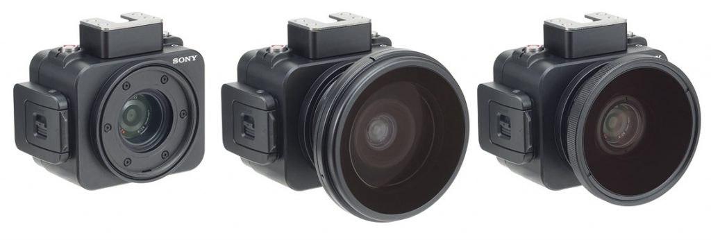 INON レンズ未装着時、「UWL-100 28M55」装着時、「UCL-G165 M55」装着