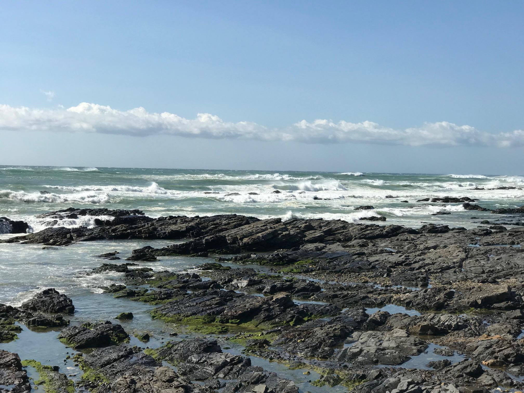 先週の和歌山、凄い風と波