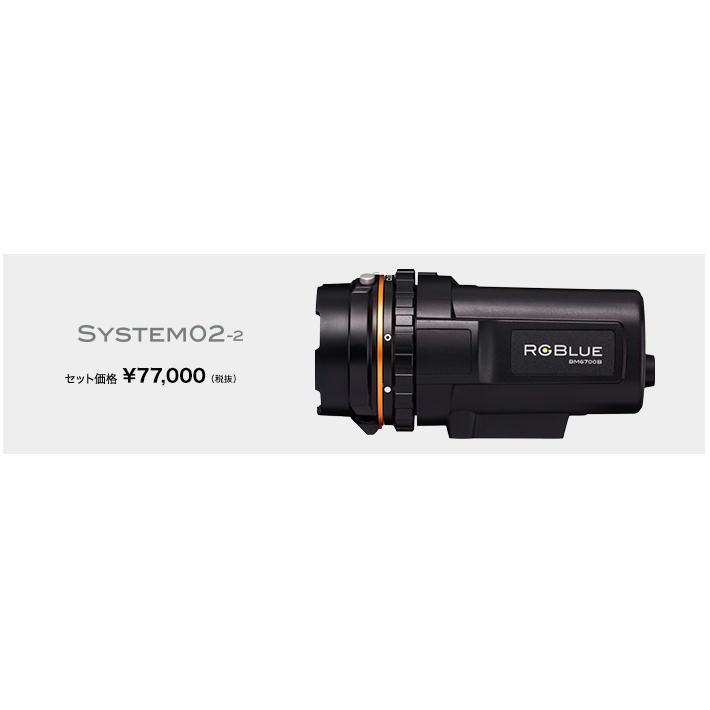 RGBLue System02-2 (アールジーブルー システム02バージョン2) 水中撮影用LEDライト