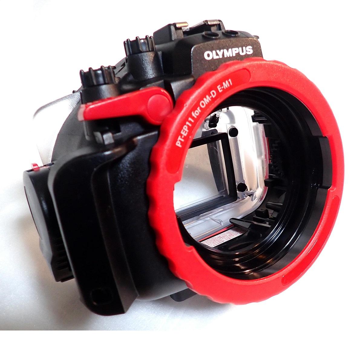 中古水中カメラ機材 オリンパス PT-EP11 防水プロテクター(OM-D E-M1用)