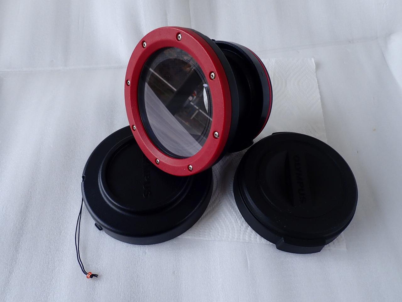 中古水中カメラ機材 オリンパス PPO-EP01 防水レンズポート(PT-EP14 PT-EP11 PT-EP08対応用)