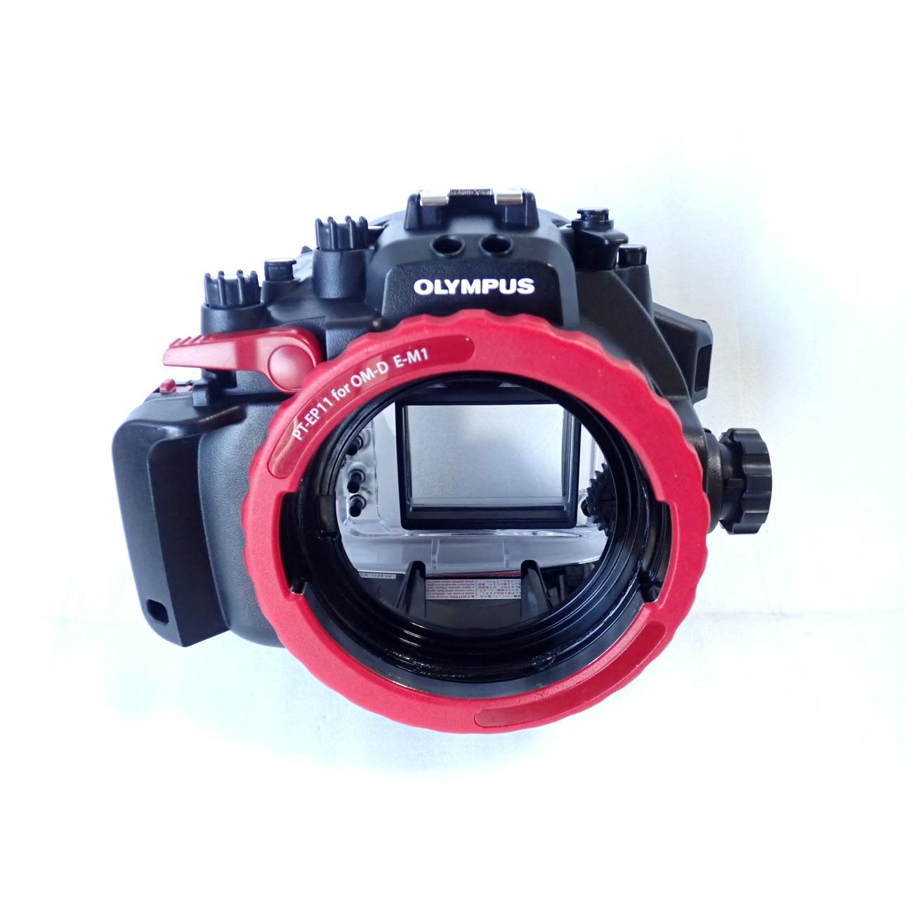 中古水中カメラ機材 オリンパスPT-EP11防水プロテクター(E-M1用)