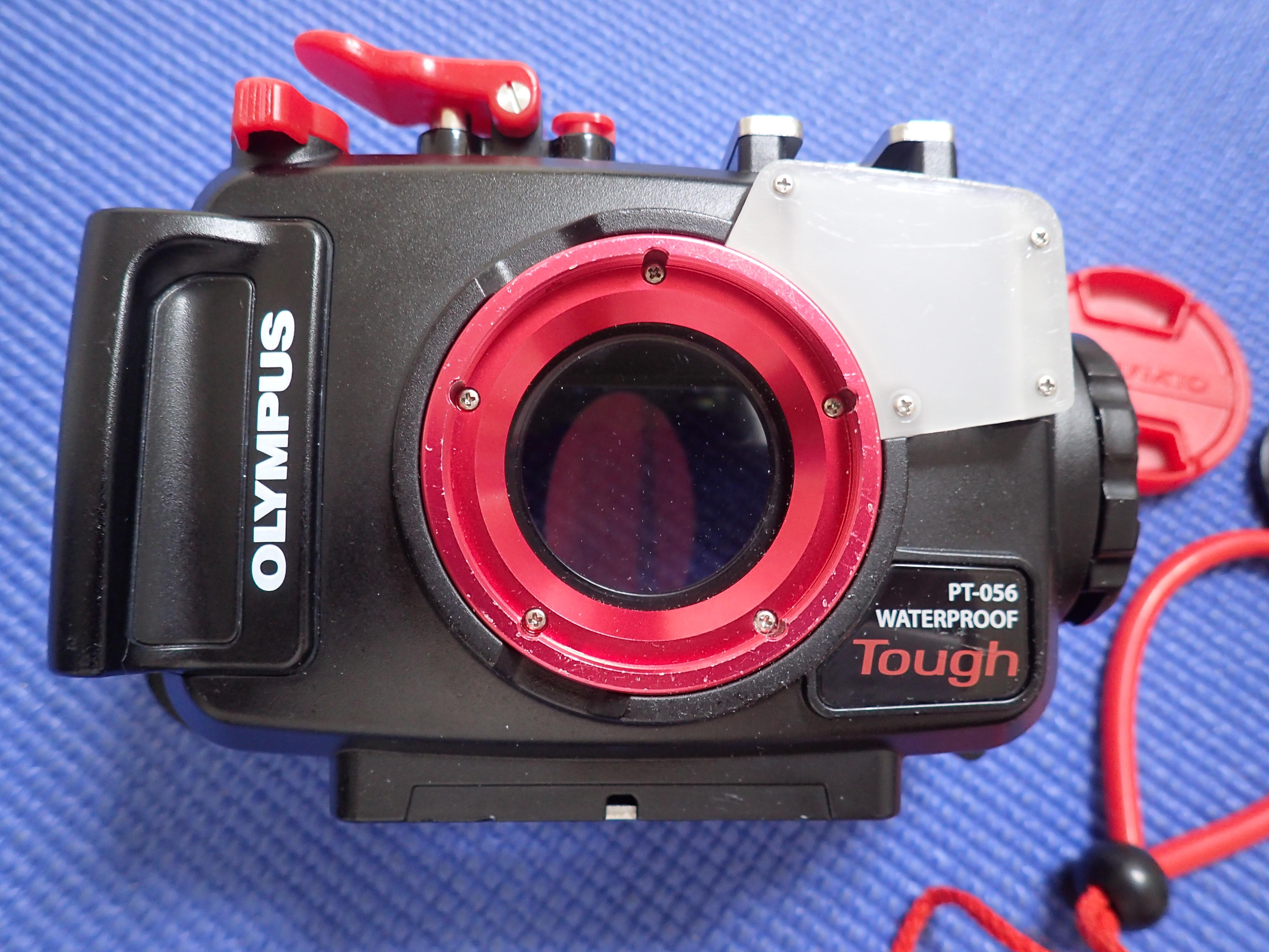 中古水中カメラ機材 オリンパス PT-056 防水プロテクター