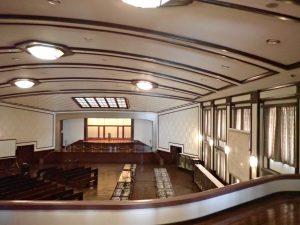 1号館 大講堂、 極東国際軍事裁判(東京裁判)の法廷として使われた 場所