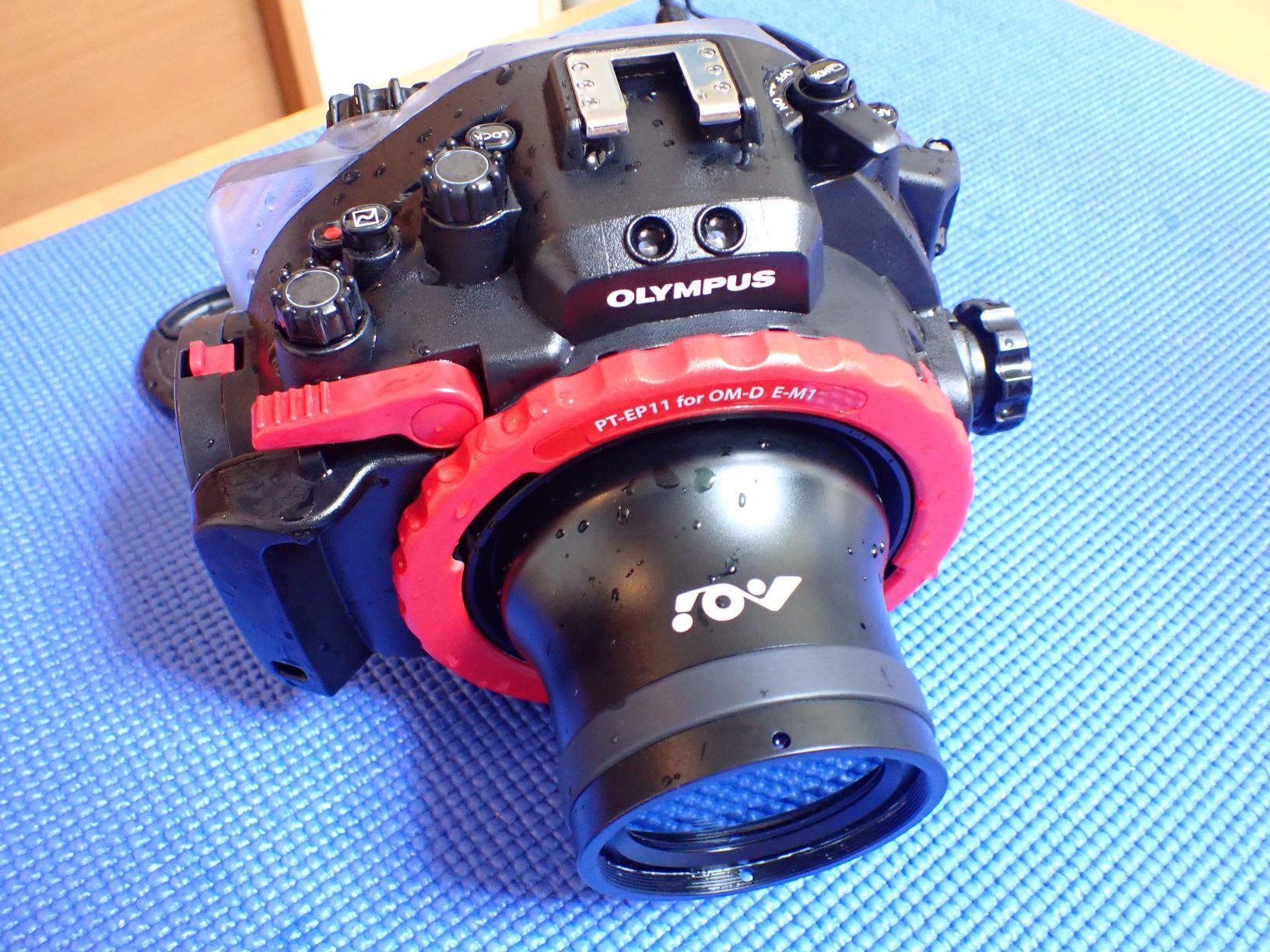 中古水中カメラ機材 PT-EP11防水プロテクター(E-M1用)